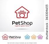 Stock vector pet shop logo template design vector 363304655