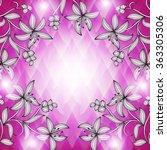 invitation or wedding card... | Shutterstock .eps vector #363305306