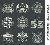 vape logotypes set 2. thin line ... | Shutterstock .eps vector #363319316