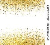 shiny golden glitter on white... | Shutterstock .eps vector #363322355