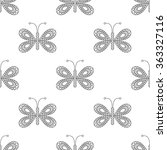 seamless vector pattern with... | Shutterstock .eps vector #363327116