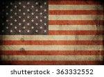 old usa flag. grunge background | Shutterstock . vector #363332552