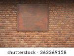 Vintage Wood Signboard On Bric...
