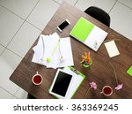 session concept. workplace top... | Shutterstock . vector #363369245