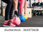 group having functional fitness ... | Shutterstock . vector #363373628