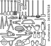gardening tools collection  ... | Shutterstock .eps vector #363378518
