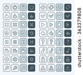 thin line game icons buttons...