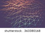 abstract polygonal space low... | Shutterstock . vector #363380168