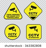 set of closed circuit... | Shutterstock .eps vector #363382808