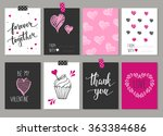 collection of 8 cards of love... | Shutterstock .eps vector #363384686
