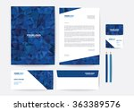 corporate identity template | Shutterstock .eps vector #363389576