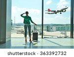 girl at the airport window | Shutterstock . vector #363392732