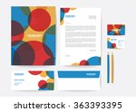 corporate identity template | Shutterstock .eps vector #363393395