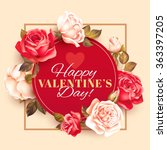 romantic valentine card with... | Shutterstock .eps vector #363397205