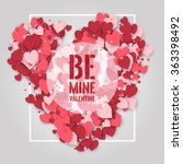 be mine valentine  abstract... | Shutterstock .eps vector #363398492