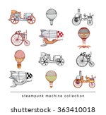 steampunk collection  hand... | Shutterstock .eps vector #363410018