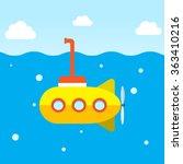 yellow submarine explore under...   Shutterstock .eps vector #363410216
