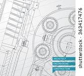 vector technical blueprint of ... | Shutterstock .eps vector #363417476