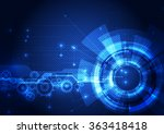 abstract futuristic digital... | Shutterstock .eps vector #363418418