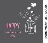 valentine's day greeting card...   Shutterstock .eps vector #363420005