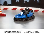 empty karting area with... | Shutterstock . vector #363423482