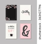 set of baby cards. collection... | Shutterstock .eps vector #363427796