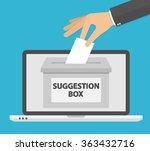 online suggestion concept. hand ... | Shutterstock .eps vector #363432716