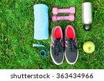 Sports Equipment On Green Gras...