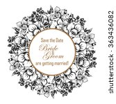 vintage delicate invitation... | Shutterstock .eps vector #363436082