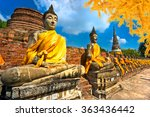Raw Of Buddha Statues In...