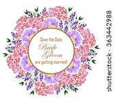 romantic invitation. wedding ... | Shutterstock .eps vector #363442988