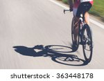 speedy shadow   a cyclist at... | Shutterstock . vector #363448178