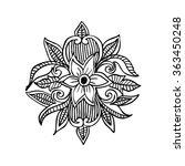 floral illustration. hand... | Shutterstock .eps vector #363450248