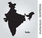gray vector map india. isolated ... | Shutterstock .eps vector #363458366