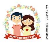 happy valentine's day card ... | Shutterstock .eps vector #363458795