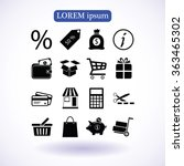 shopping icons | Shutterstock .eps vector #363465302