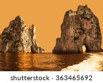 Small photo of Amazing landscape at Capri Island with Faraglioni - coastal rocks formation at the Mediterranean Sea. Creative style with color filter.