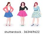 three beautiful plus size... | Shutterstock .eps vector #363469622