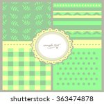 set of backgrounds with... | Shutterstock .eps vector #363474878