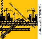 under construction background... | Shutterstock .eps vector #363482945