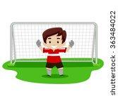 vector illustration of a boy... | Shutterstock .eps vector #363484022