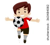 Vector Illustration Of A Socce...