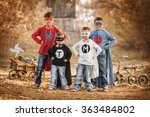 four boys dressed as...   Shutterstock . vector #363484802