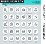 thin line icons set of travel... | Shutterstock .eps vector #363486848