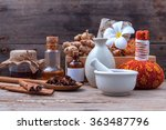 natural spa ingredients herbal... | Shutterstock . vector #363487796