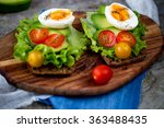 sandwich with avocado and... | Shutterstock . vector #363488435