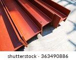 steel beams | Shutterstock . vector #363490886