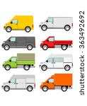 cartoon van truck set on a... | Shutterstock .eps vector #363492692