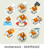 house insurance business... | Shutterstock .eps vector #363496262