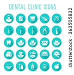 dental clinic services ... | Shutterstock .eps vector #363505832